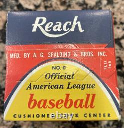 Vintage Reach/Spalding NO. 0 Official American League Joe Cronin Baseball/Sealed