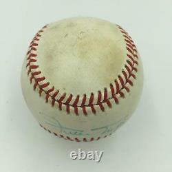Vintage Willie Mays Signed Official National League Baseball PSA DNA COA