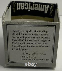 Vtg Ted Williams Signed Autograph Official American League Bobby Brown Baseball