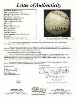 Walter Johnson Signed 1930's Official American League Baseball JSA COA