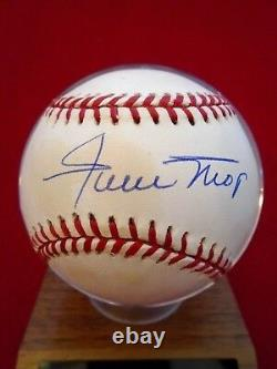 Willie Mays Signed Autographed Official National League Baseball Coa