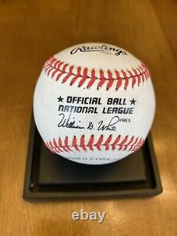Willie Mays Signed Autographed Official National League Baseball Giants
