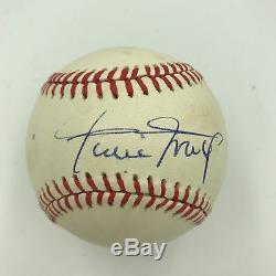 Willie Mays Signed Autographed Official National League Baseball PSA DNA COA