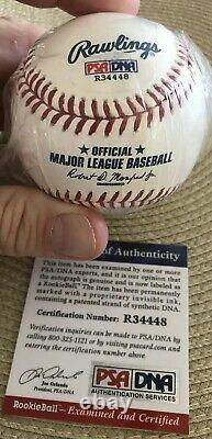 Wilson Contreras Signed Psa/dna Rookie-ball #40 Official Major League Baseball