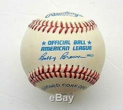 Yankees JOE DIMAGGIO signed Official American League Baseball withJSA LOA