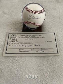 Yogi Berra Hall Of Fame 1972 Signed Official Major League Baseball
