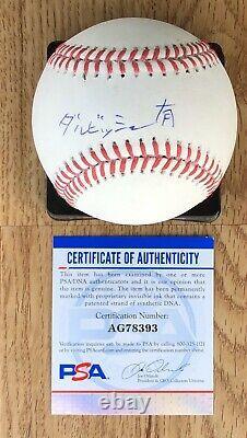 Yu Darvish signed Official Major League Baseball KANJI Japanese Cubs PSA/DNA COA